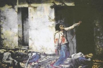 La quema del mesón, obra de Enrique Echandi, vilipendiada a finales del siglo XIX por su concepto de soldado costarricense.